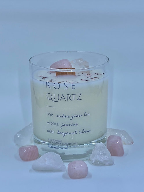 Rose Quartz - Crystal Candle
