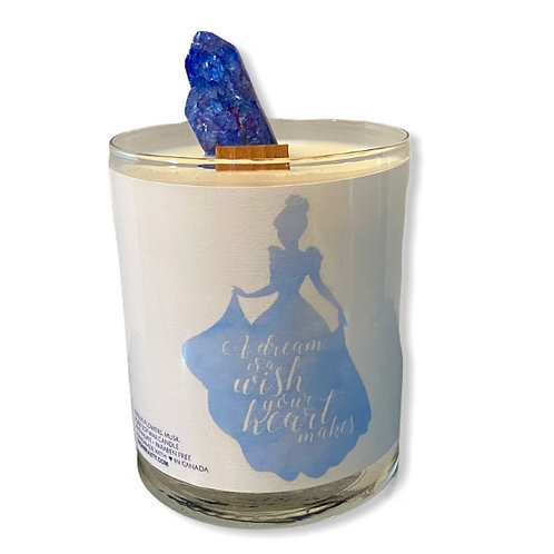 dream crystal candle