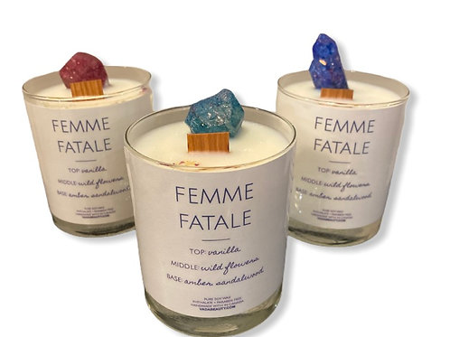 femme fatale crystal candle