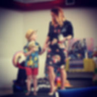 brody and momma on runway.jpg