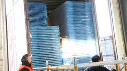 이스라엘에서 컨테이너 도착 U-Panel 입고