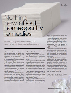 Nothing new about homeopathic...