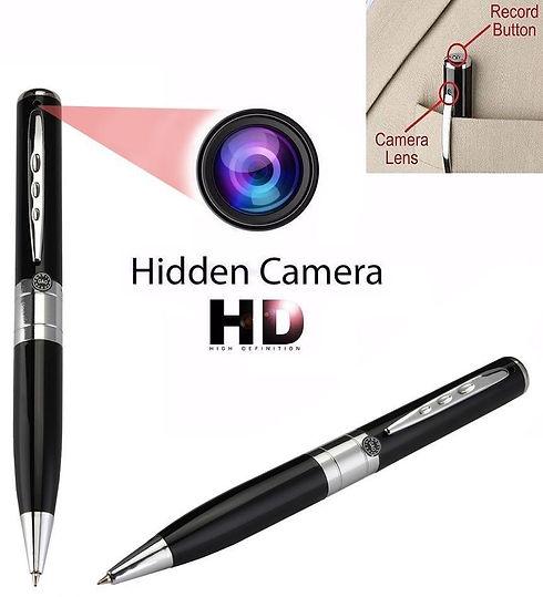 image of a pen that has a digital video recorder inside. hidden camera.