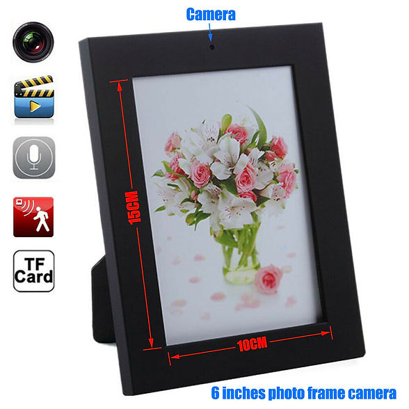 Image of a picture frame with a hidden camera inside.