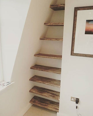 Shelves made from drift wood cut at an angle #driftwood #shelves #woodwork #woodcraft #rustic #style