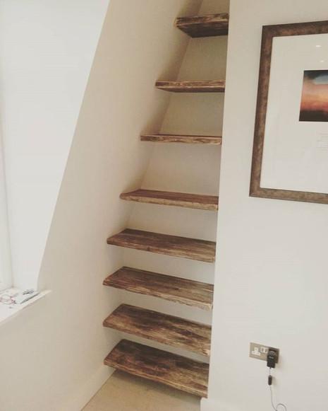 Drift wood shelves