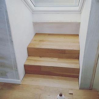 Wooden Steps For Skylight