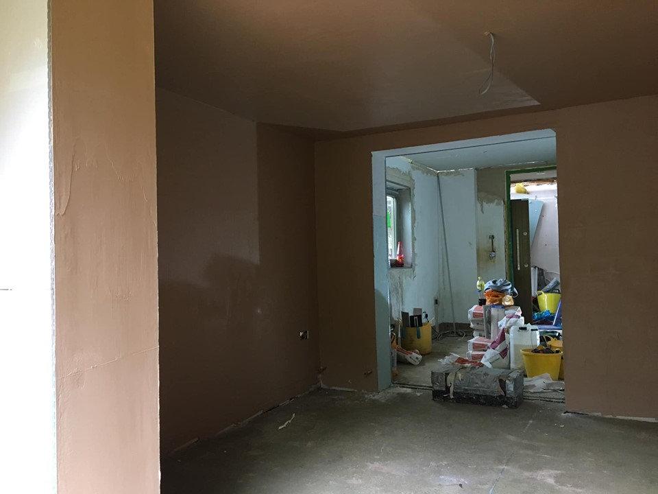 Little Hill, Ground Floor Plastering