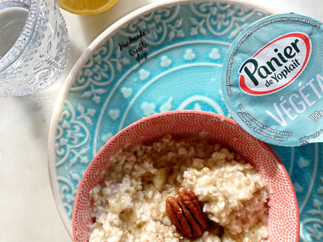 Porridge banane pécan.