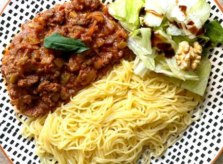 Noodles de Konjac à la bolognaise