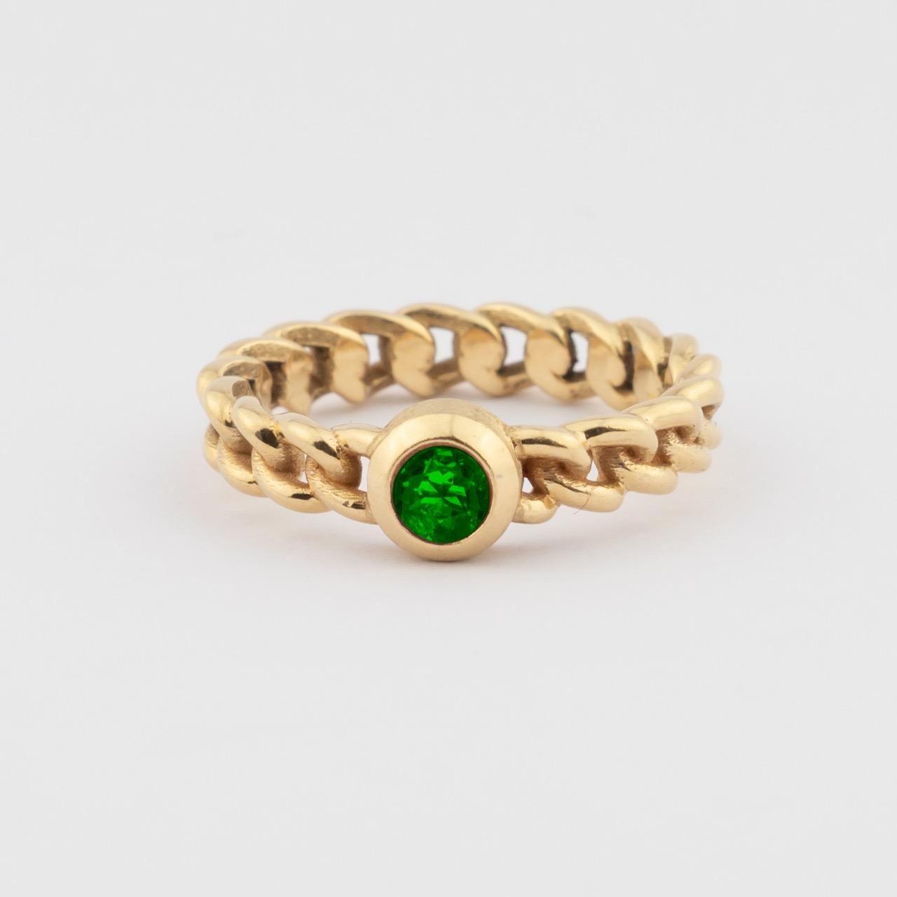Elo Ring - green Tourmalijn