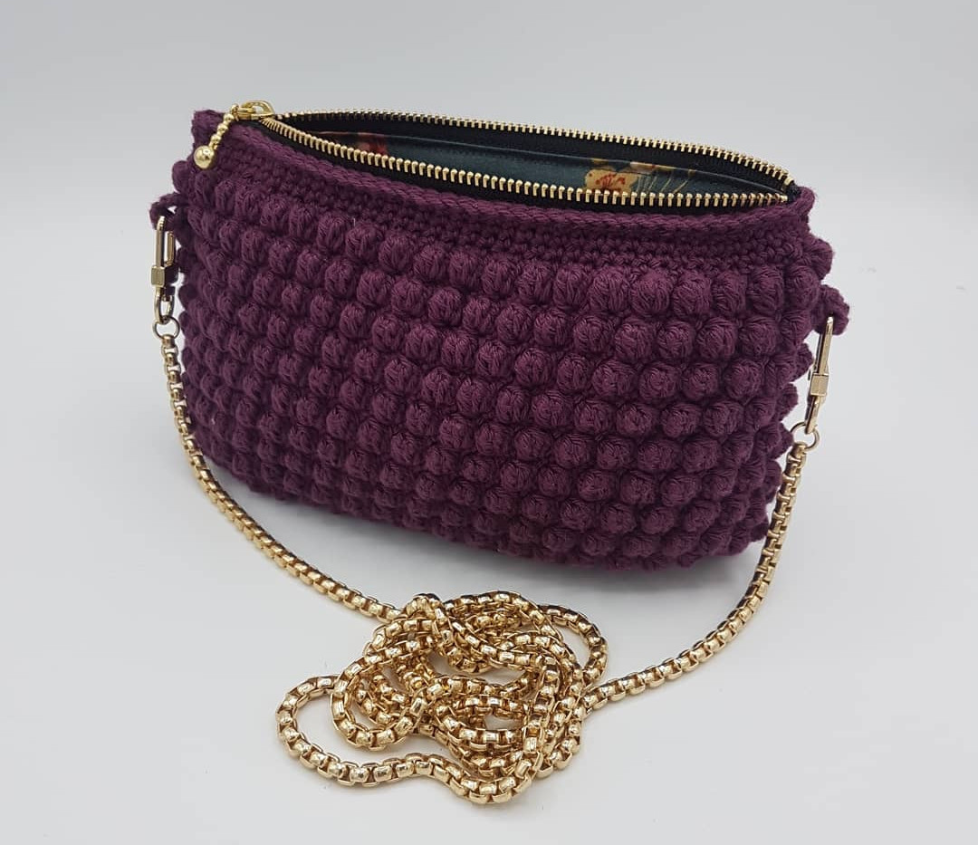 clutch with gold chain