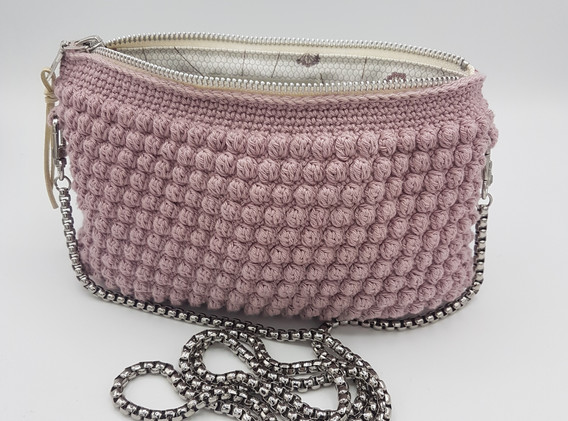 dusty rose with chain