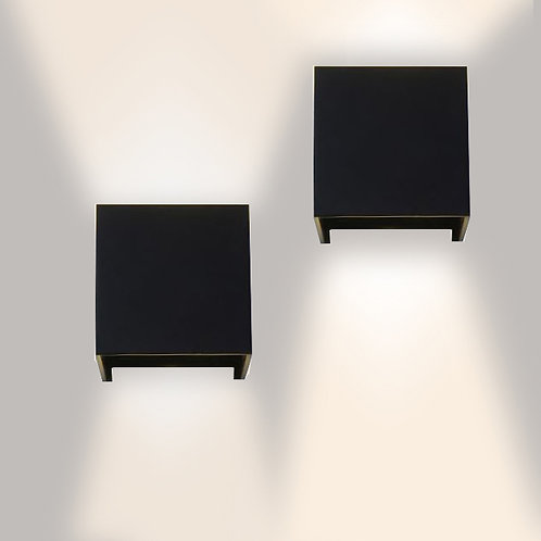Cubo Wall Lamp (Black-IP65)