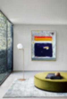 gold glass globe floor lamp