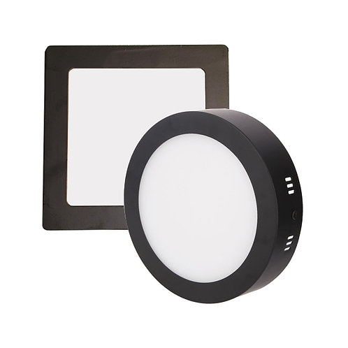 Hamburg Ceiling Lamp In Black Frame (18W)