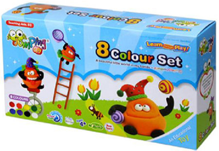 Jumping Clay 8-Colour Refill Set