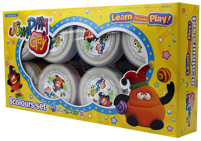 Jumping Clay 8-Colour Set