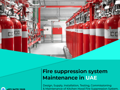Basic Steps To Carry Out Maintenance For Fire Suppression Systems