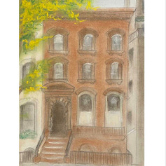 Brownstone in Fall