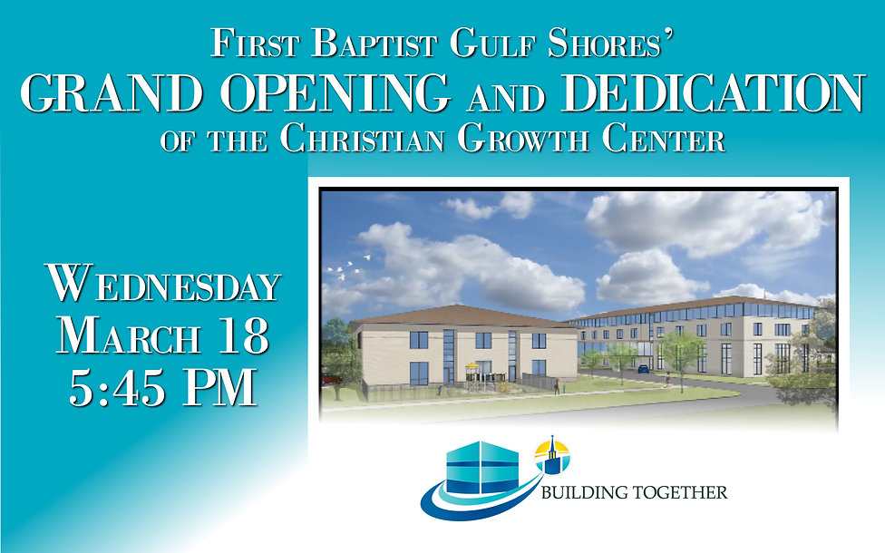 CHRISTIAN GROWN CENTER DEDICATION