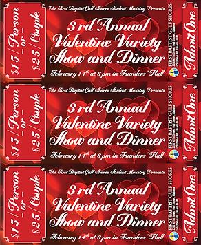 Valentine Variety Show tickets