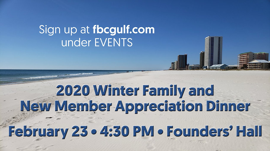 Winter Family:New Member Appreciation Di