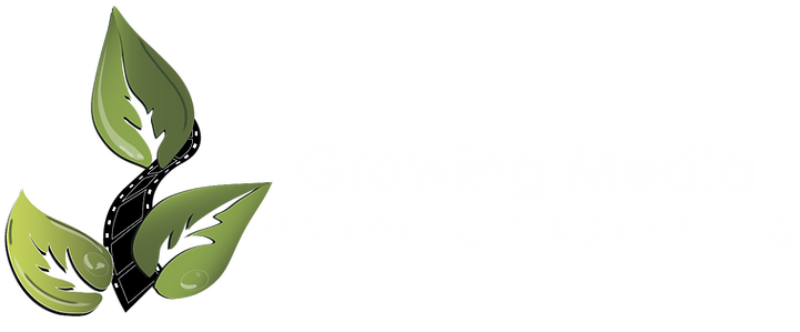 Growing Media Logo Transparent White Tex