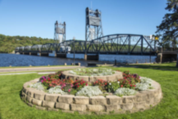 Stillwater Lift Bridge Scenic Minnesota.