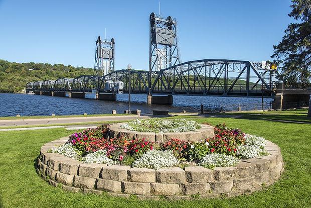 Stillwater Lift Bridge Scenic Minnesota.