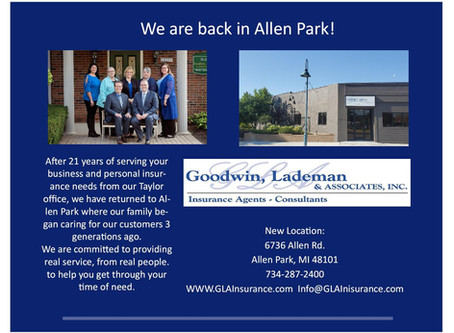 Offices Now Located In Allen Park