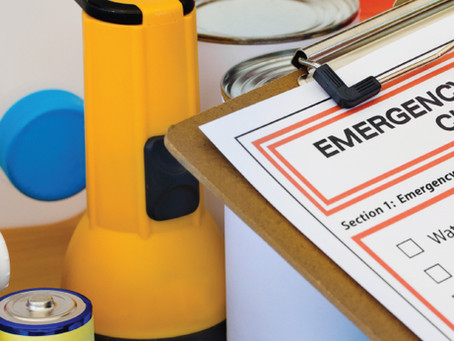 Just a reminder to be prepared for an emergency!