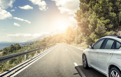 white_car_highway