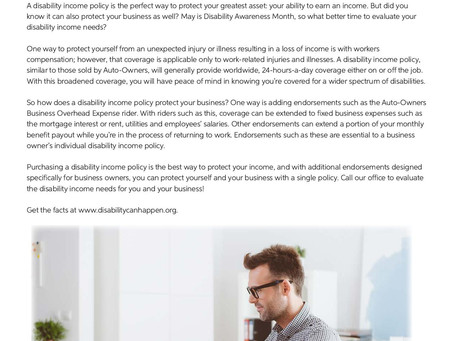 Do you need disability income?