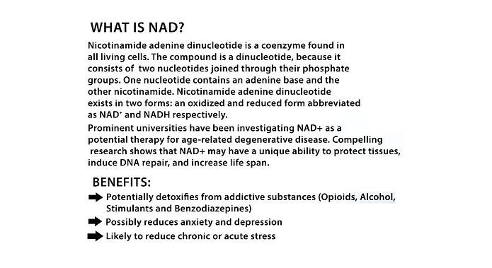 NAD (nicotinomide adenine dinucleotide)