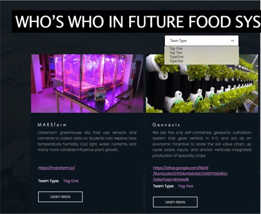 Join a Who's Who of Future Food Tech Innovators
