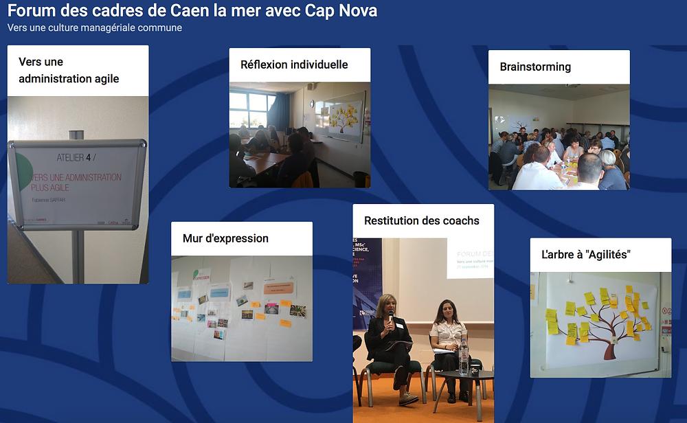Ateliers d'intelligence collective au Forum des cadres de Caen la mer