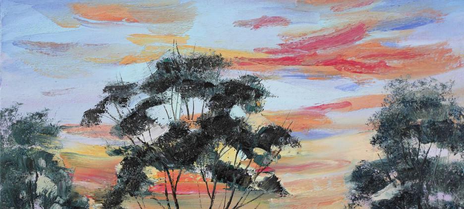 Sunset Silhouette 51cm x 40cm SOLD