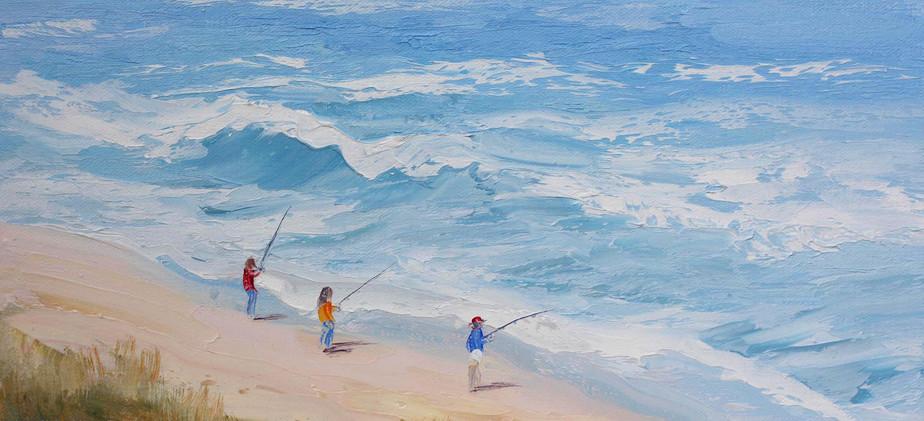 Fishing for Herring 41cm x 30cm