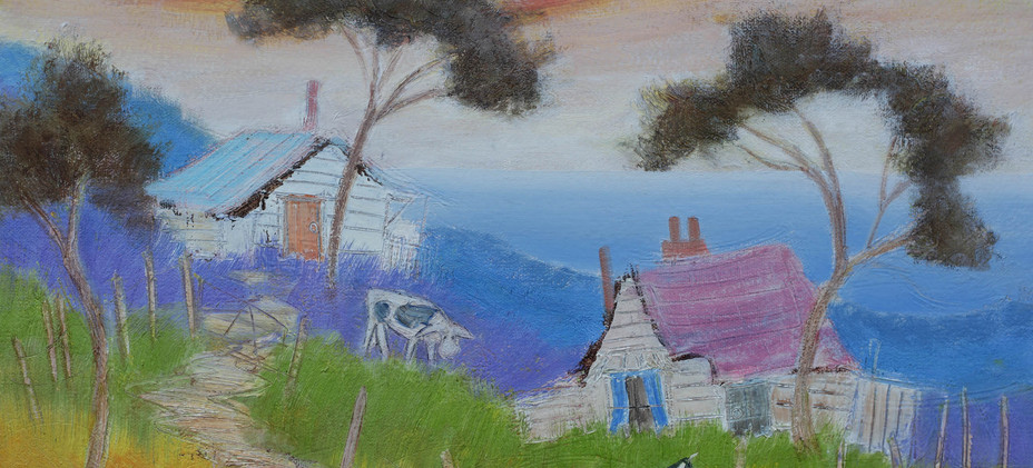 Quirky Cottages 4 - 51c x 40cm SOLD