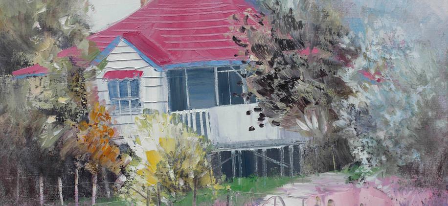Colorful Cottage 51cm x 40cm