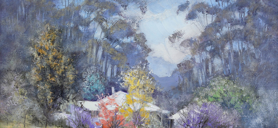 Country Cottage 76cm x 51cm SOLD