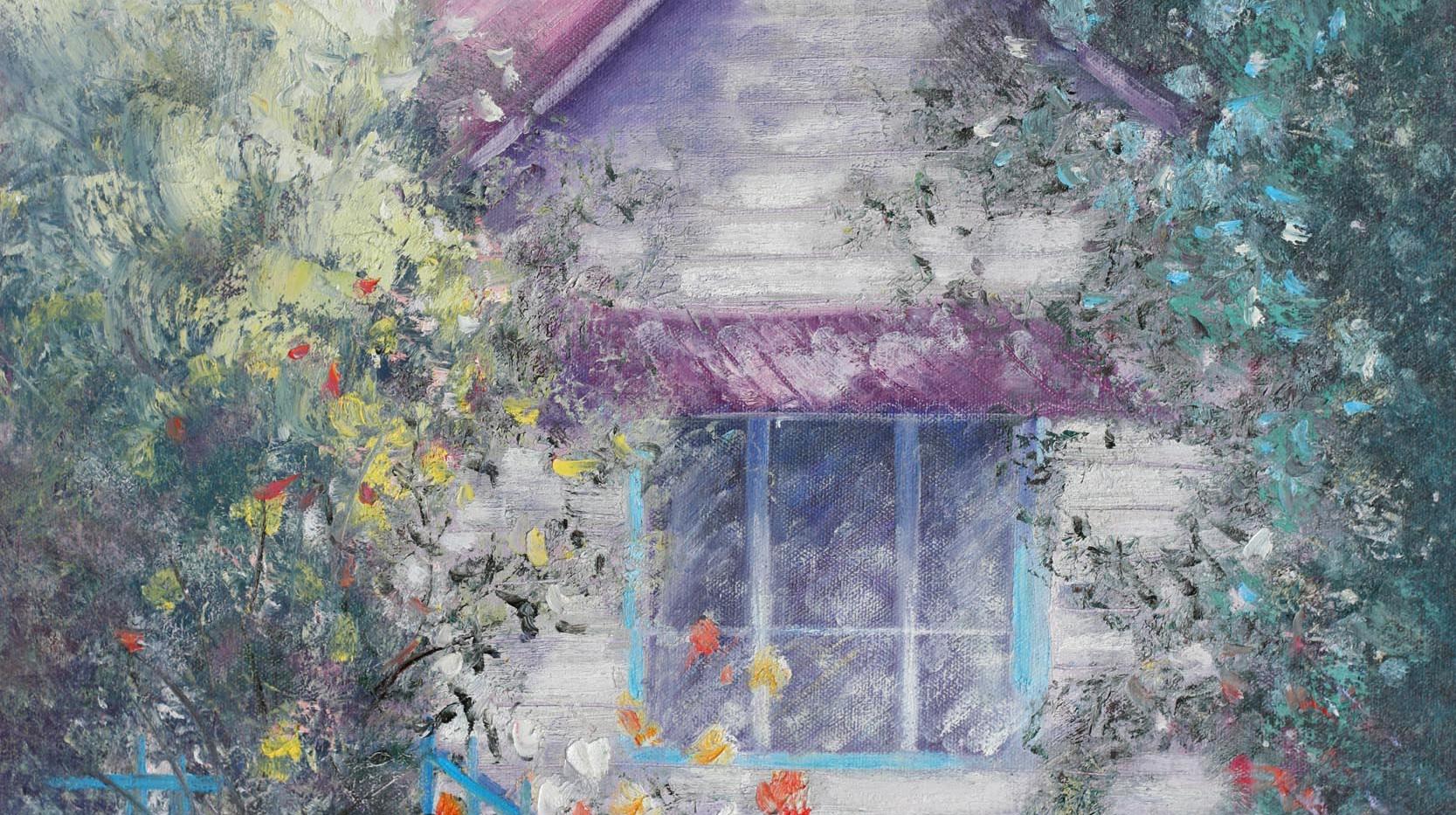 Roses by my Window 76cm x 51cm