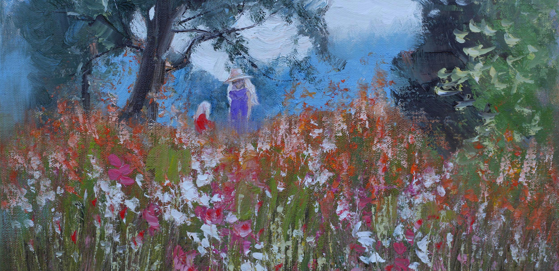 Among the Flowers 41cm x 30cm