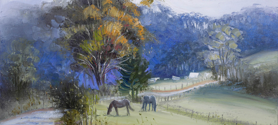 Hillside Horses 51cm x 40cm