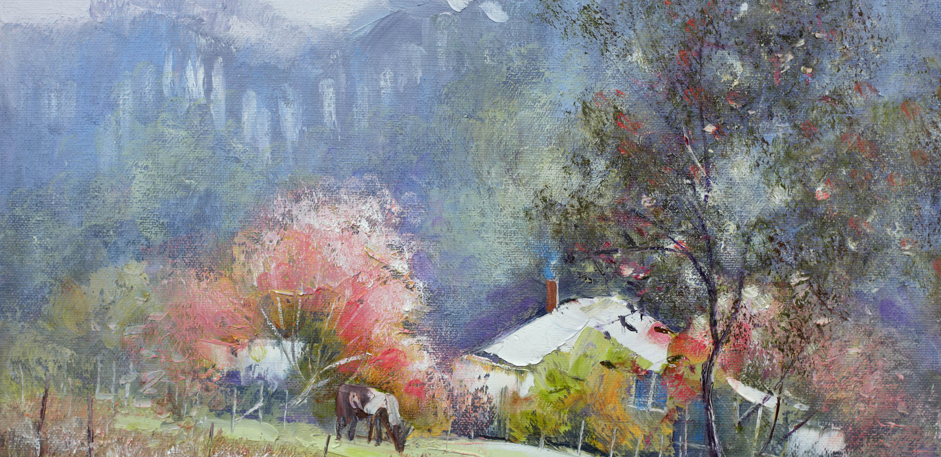 Home in the Hills 41cm x 30cm