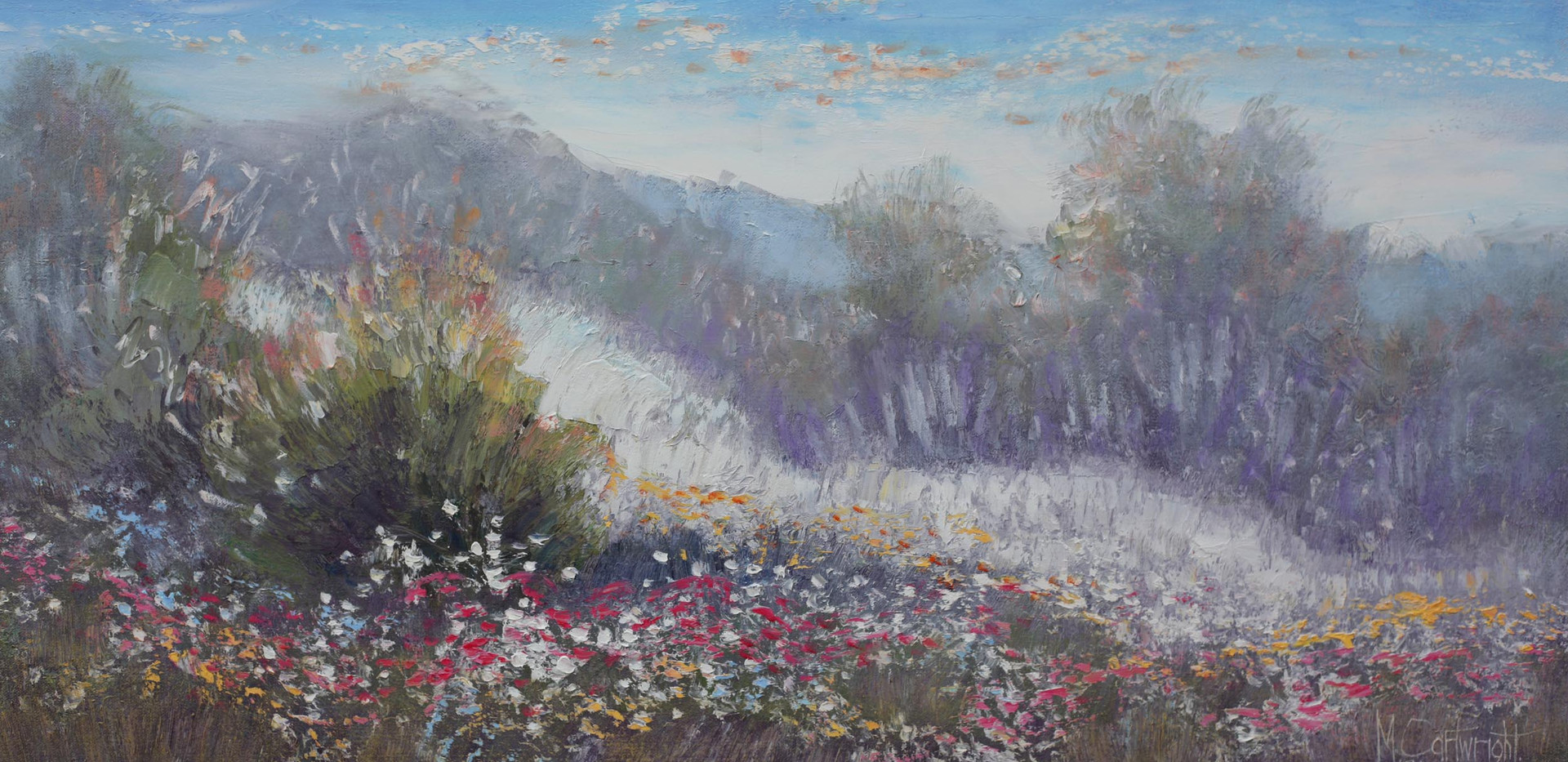 Wildflowers Bluethumb 91cm x 46cm