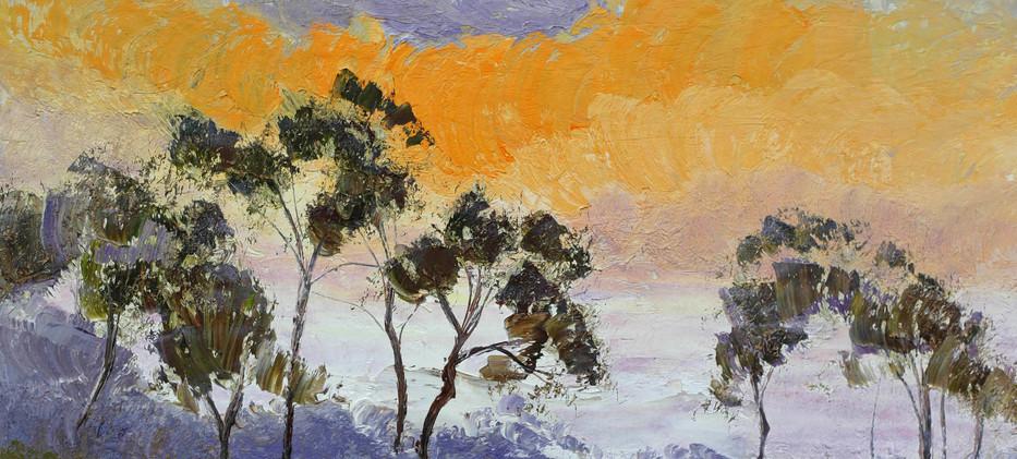 Gum Tree Silhouette 51cm x 40cm