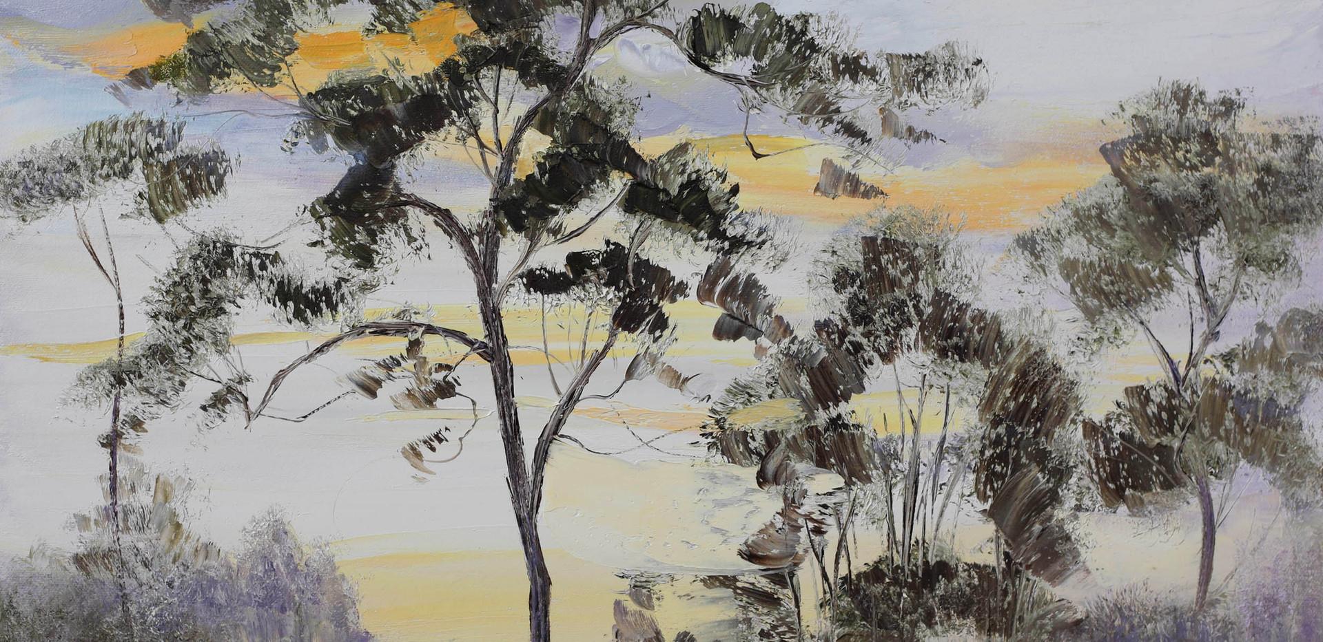 Karri Tree Silhouette 61cm x 51cm SOLD