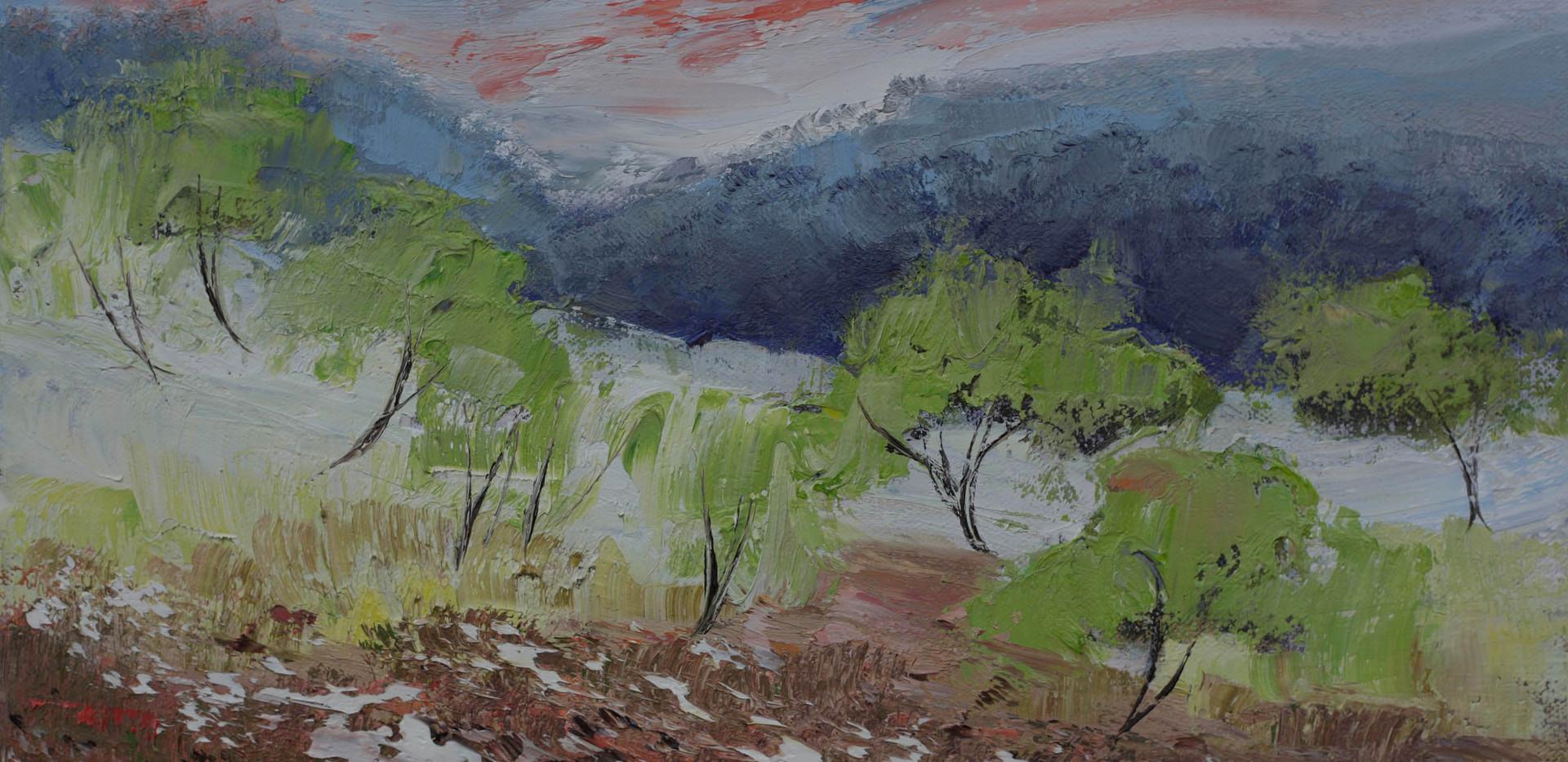 Painterly Trees 41cm x 30cm